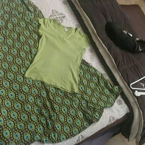 Hippy dippy maxi skirt or halter dress and t